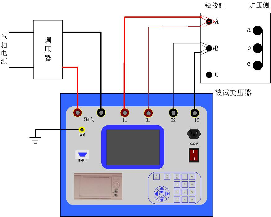 正文  系统设置 接线示意图 1,加压侧绕组为y或yn接线的三相变压器