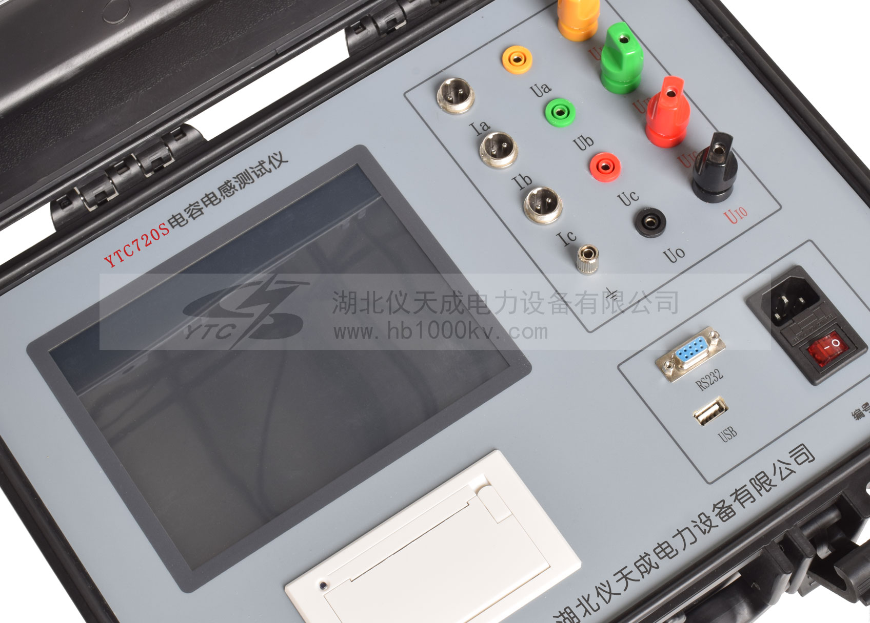 YTC720S全自动电容电感测试仪面板图