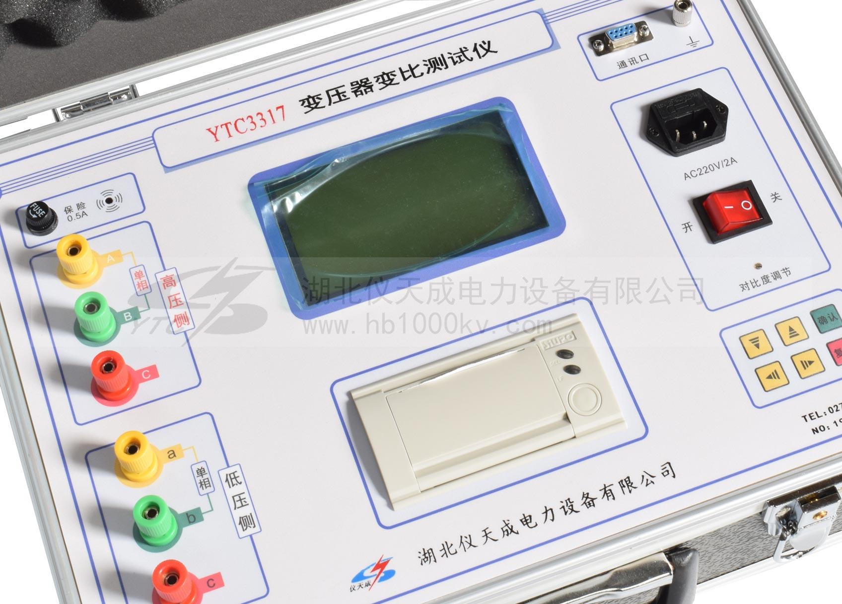 YTC3317全自动变比组别测试仪面板