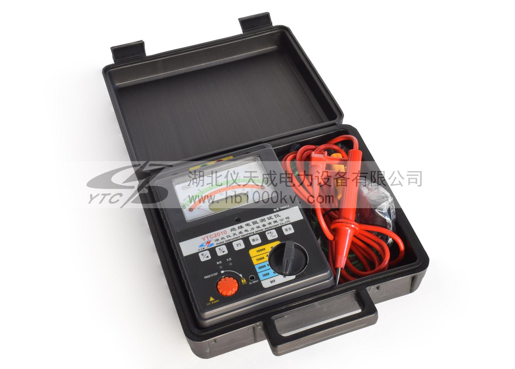 YTC2010智neng双显jue缘电zu测试仪