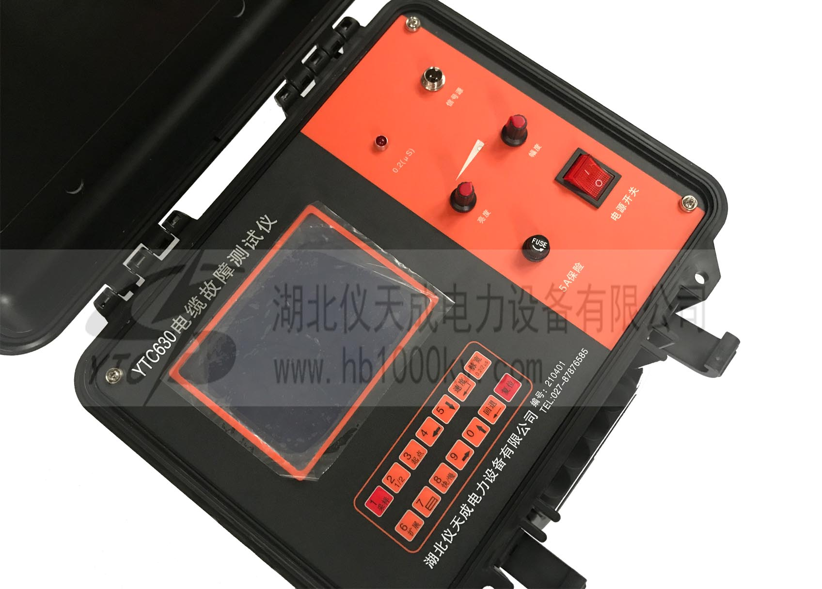 YTC630电缆故障测试仪主机面板